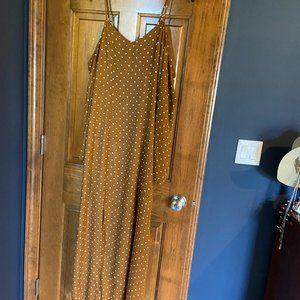 Xhilararion Cold Shoulder Maxi Dress